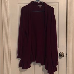 Maroon Cashmere sweater.